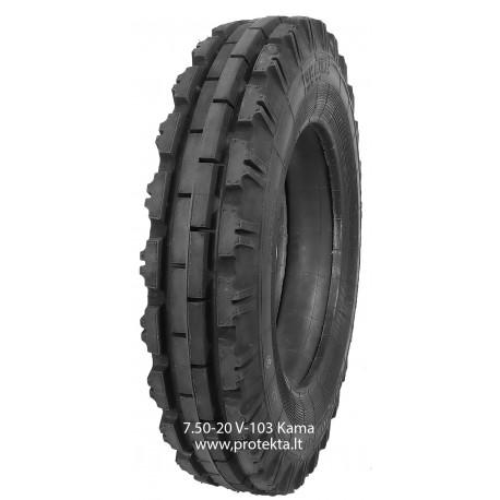 Tyre 7.50-20 V103 Kama 6PR 102A6 TT