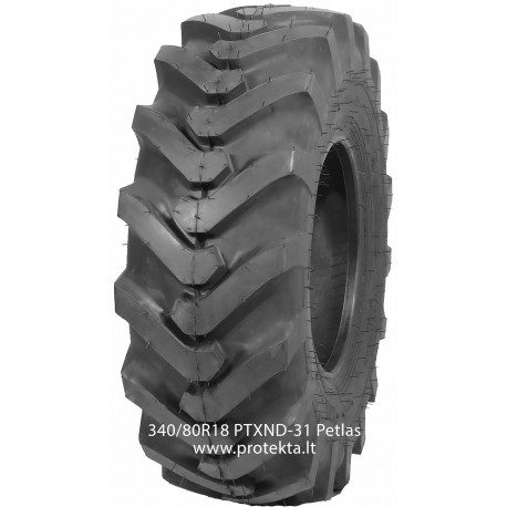 Tyre 340/80R18 (12.5/80R18) PTX ND31 Petlas 143A8/143B TL