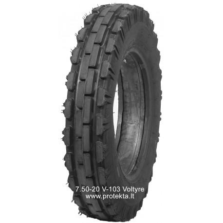 Tyre 7.50-20 V-103 Voltyre 6PR 103A6 TT