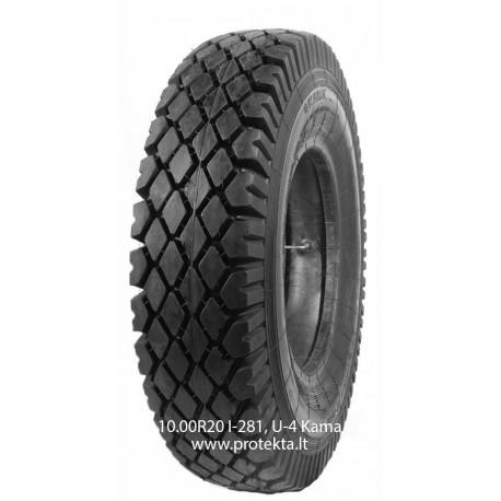 Tyre 10.00R20 I-281, U-4 Kama 16PR 146/143J TTF