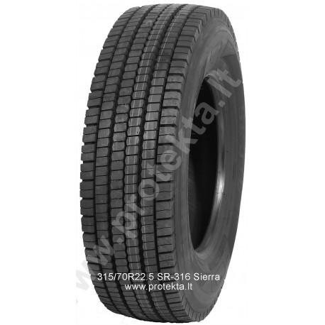 Tyre 315/70R22.5 SR-316 Sierra 18PR 154/150M TL M+S