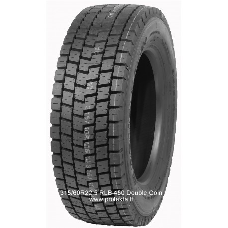 Tyre 315/80R22.5 RLB-450 Double Coin 18PR 156/150L TL M+S
