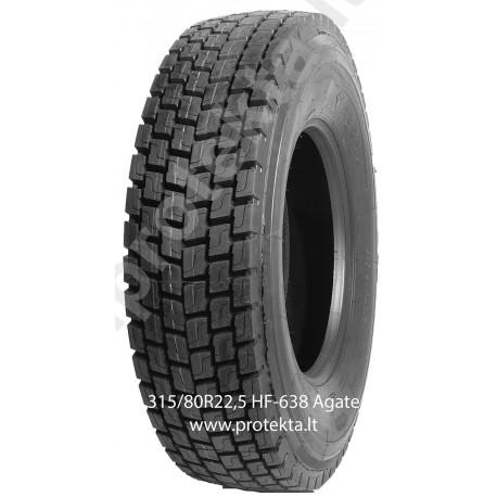 Tyre 315/80R22.5 HF-638 Agate 20PR 156/152L TL M+S