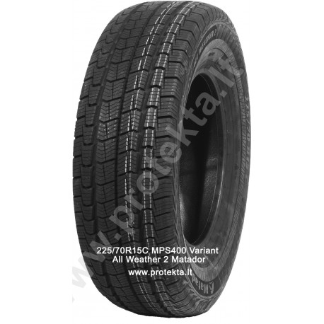 Tyre 225/70R15C MPS400 Variant All Weather 2 Matador 112/110R TL M+S