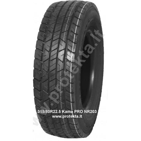 Tyre 315/80R22.5 NR203 PRO Kama 156/150L TL M+S 3PMSF