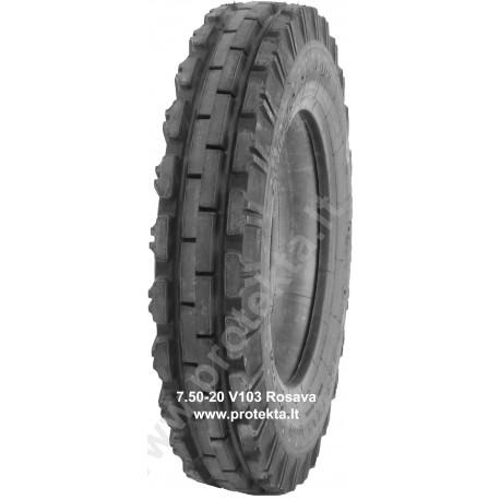 Tyre 7.50-20 V103 Rosava 6PR 103A6 TT