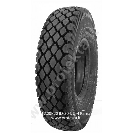 Tyre 12.00R20 ID-304, U-4 Kama 16PR 150/146J TTF