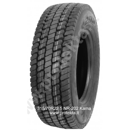 Tyre 315/70R22.5 NR202 Kama CMK 154/150L TL M+S